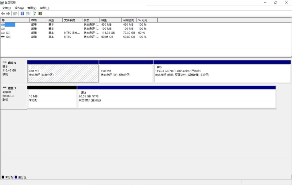 Windows 10默认分区方案