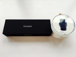 Moto 360第二代和Ticwatch包装对比