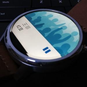 Moto 360第二代QQ音乐显示效果