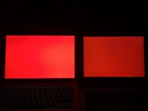 MacBook Pro 13和Elite x2 1012 G1红色对比
