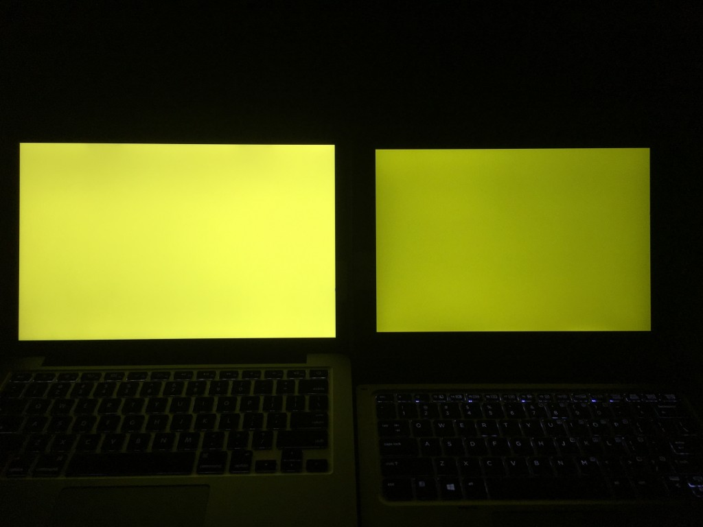 MacBook Pro 13和Elite x2 1012 G1黄色对比