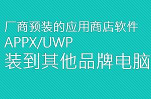 厂商预装appx部署到其他电脑特色图像