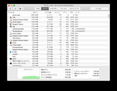 尝试同时开着Chrome和Kinza(全部初始状态只开一个新页面和日本雅虎.)记忆体占用是这样的......
