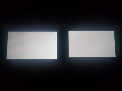 屏幕 HUAWEI Mate 9(左) VS 三星Note 5(右)