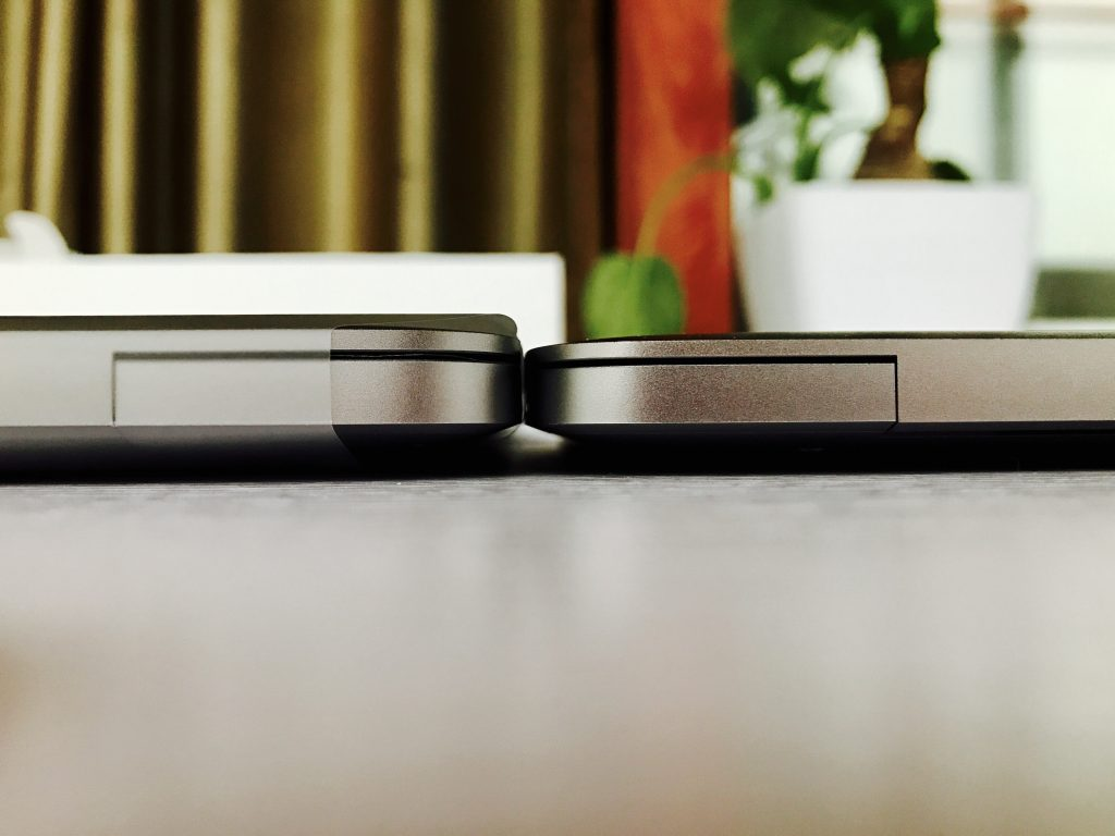 MacBook Pro 13与MacBook厚度对比
