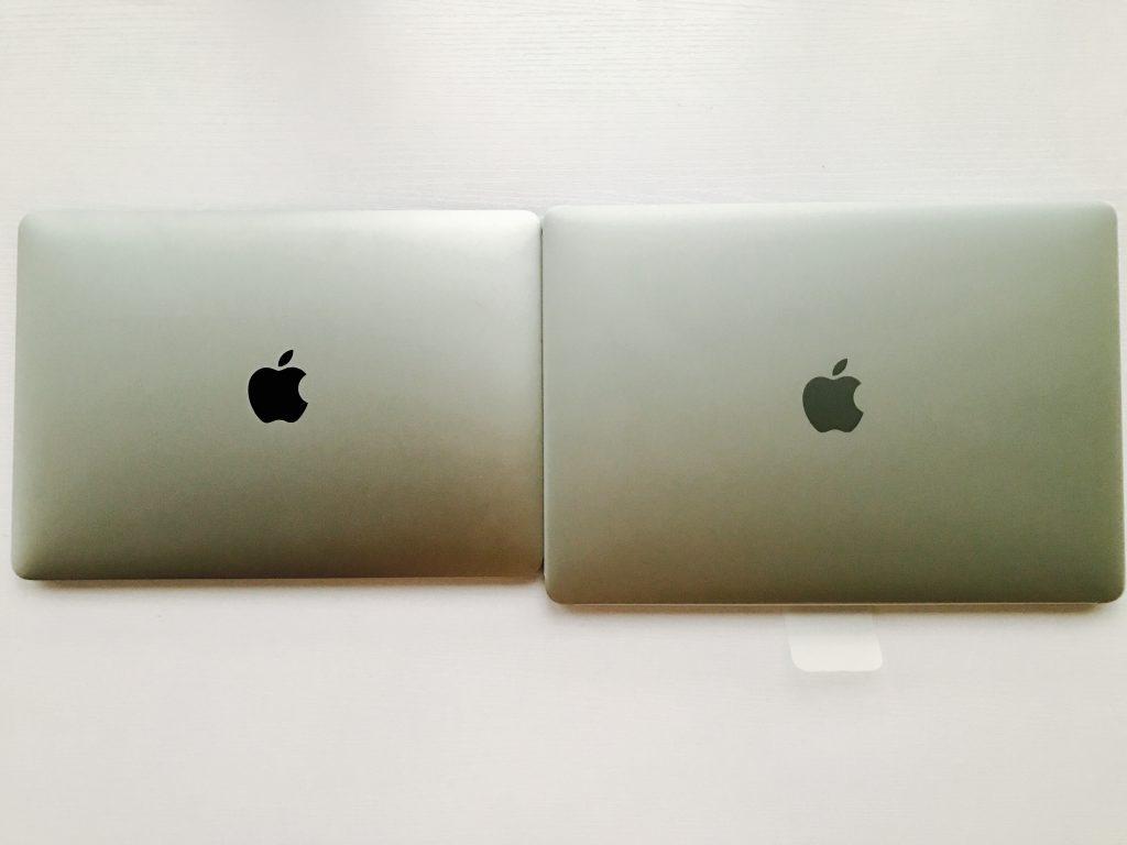 MacBook Pro 13与MacBook尺寸对比