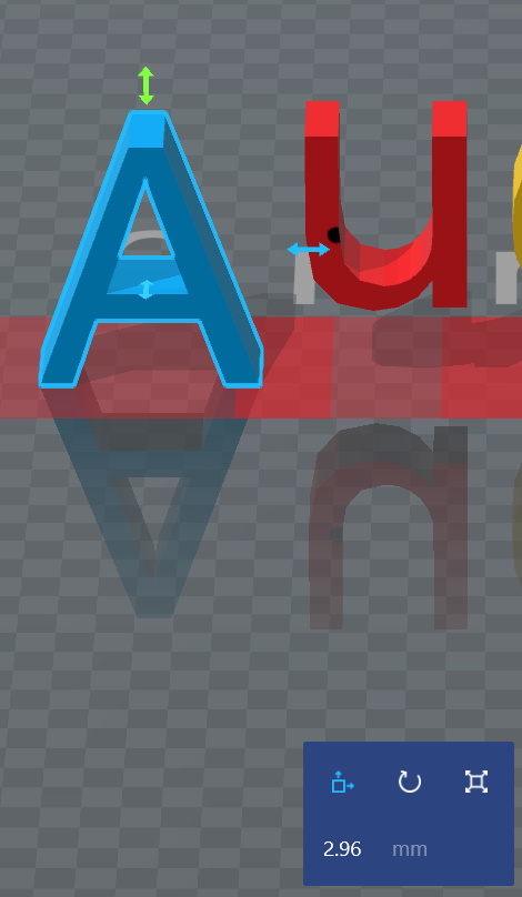 3DBuilder-调节物体之间的距离