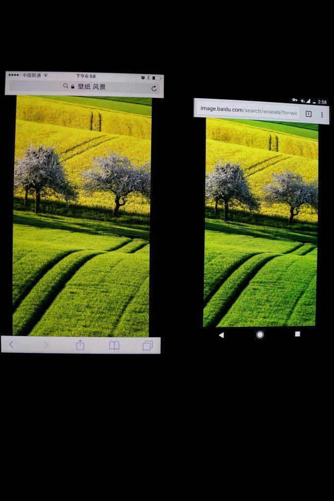 Pixel与iPhone 7 Plus屏幕色彩表现对比