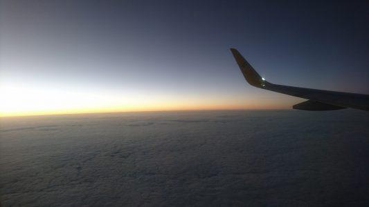 太阳快要下山了,云海也逐渐暗了下来