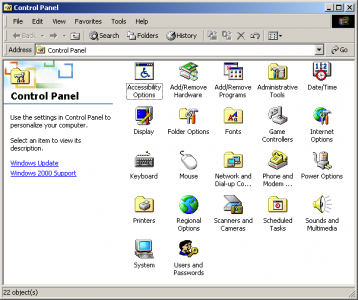 Windows 2000界面