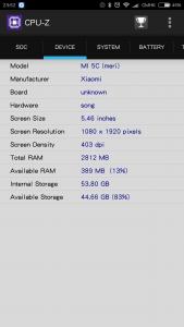 CPU-Z列表(2),有趣的是屏幕尺寸直接识别成5.5寸了hhhhhh