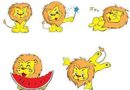 姿势丰富的小狮子卡卡