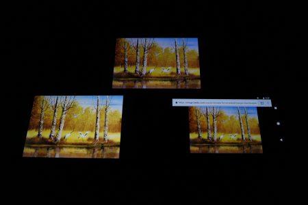 华为P10 Plus、苹果iPhone 7 Plus和Google Pixel屏幕色彩显示对比