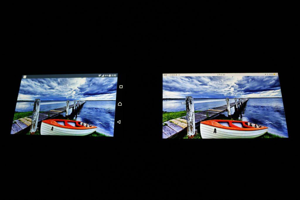 Xperia XZ Premium屏幕色彩对比