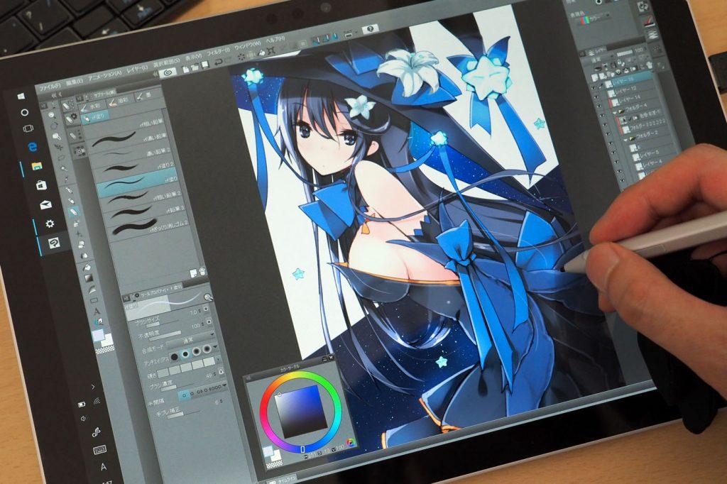 refeia比较iPad Pro 10.5和Surface Pro绘画舒适度