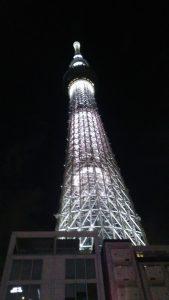 晚上的天空树,天空中最闪亮的一座塔