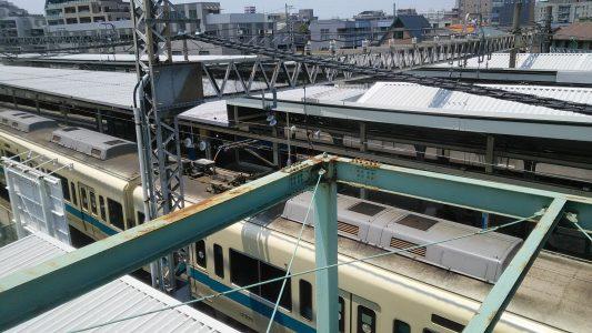然后再乘搭小田急小田原线到登户站.这是车站风景