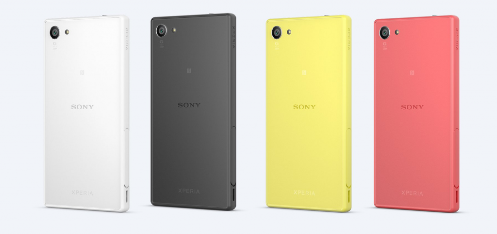 Sony Xperia Z5 Compact四种颜色