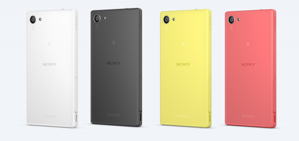 Sony Xperia Z5 Compact四种颜色