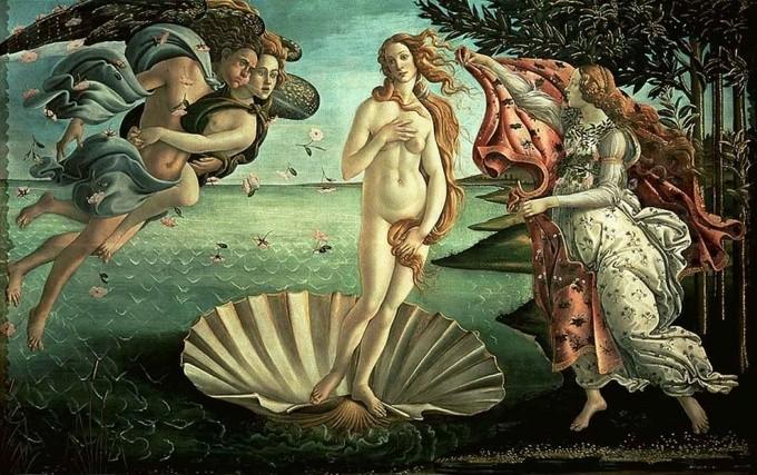 油画名作《维纳斯的诞生》