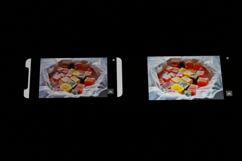 iPhone X与黑鲨手机显示效果对比