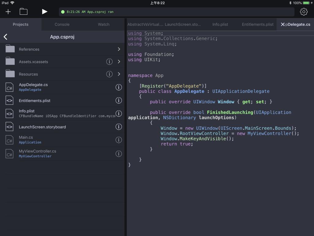 Continuous中编辑iOS工程