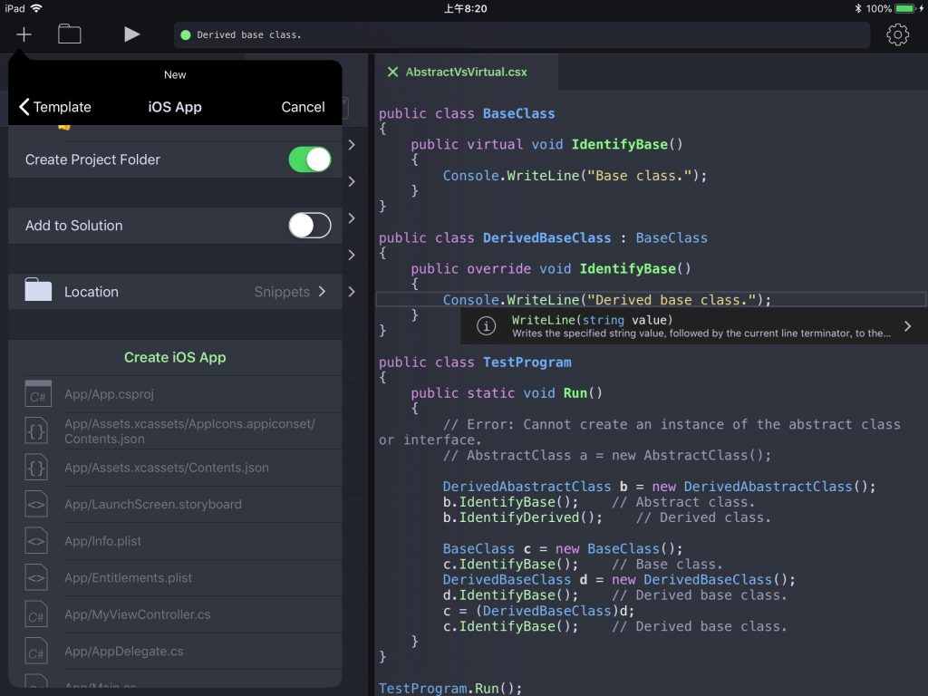 Continuous中创建iOS工程