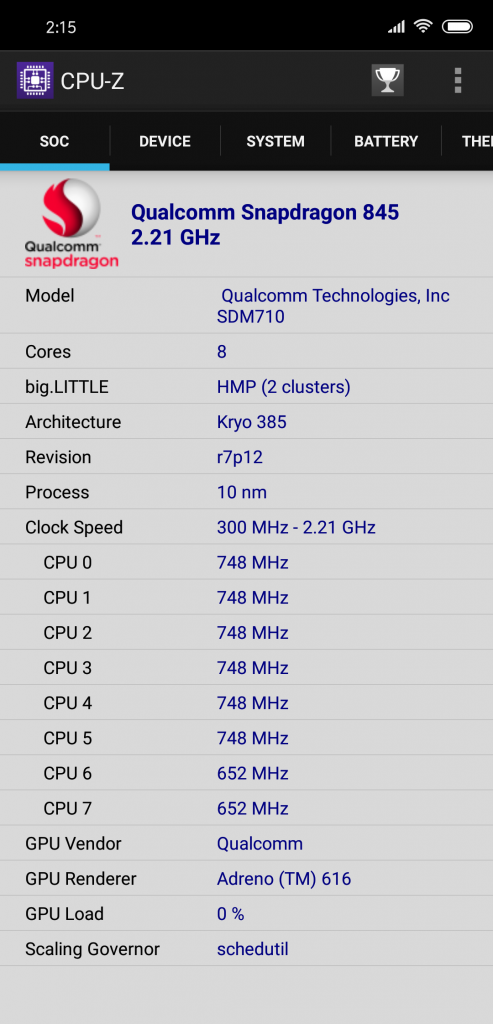 CPU-Z截图,估计和之前一样,没升级前都是显示高一级的处理器,这次是845.