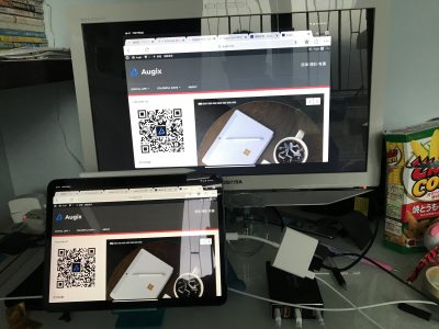 利用USB-C扩展坞作影像输出,同时接了个键盘