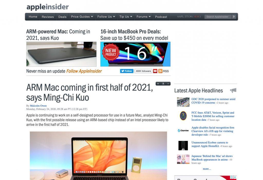 ARM版本Mac的报道