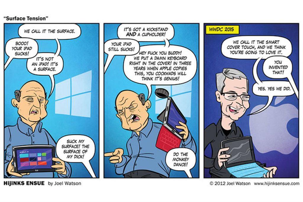 漫画:iPad与Surface