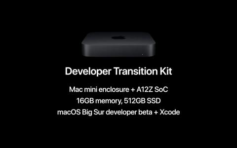 本次发布会的唯一硬件:Apple Silicon版Mac开发用机种。价格为500美金,但是要还。