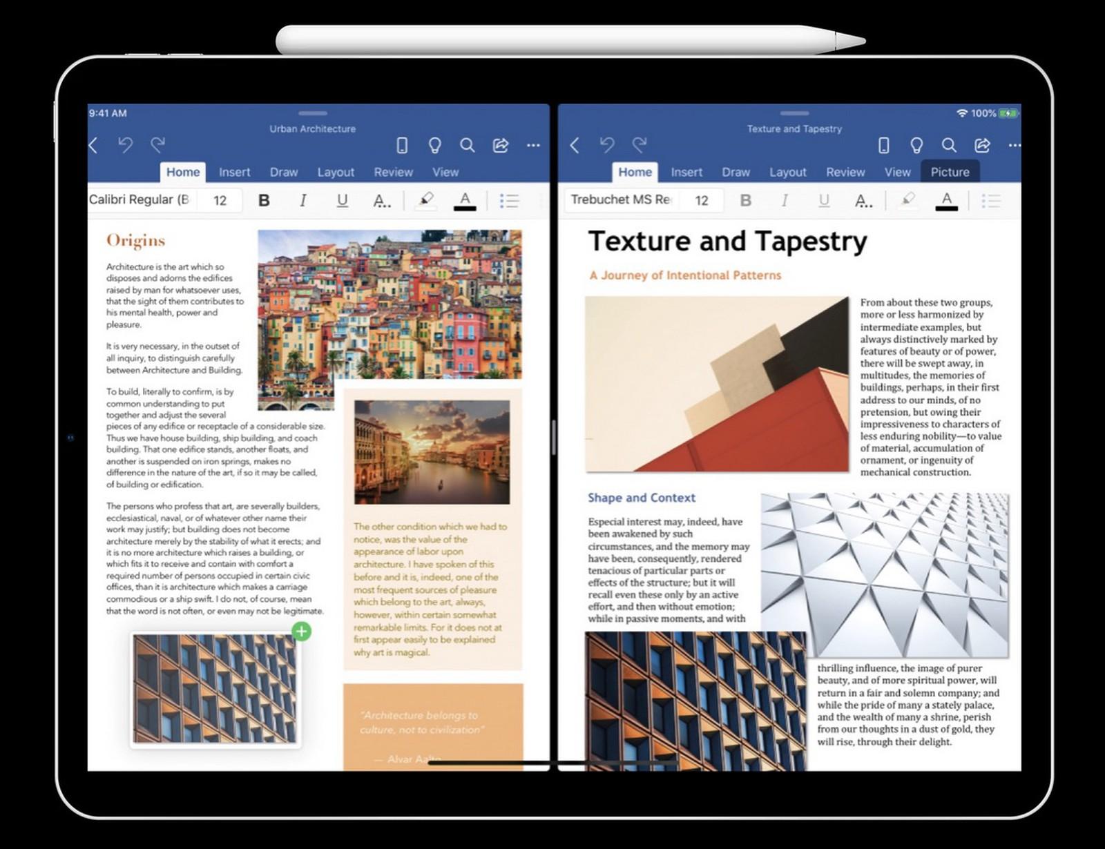在iPadOS上运行的Office