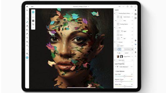 在iPadOS上运行的Photoshop