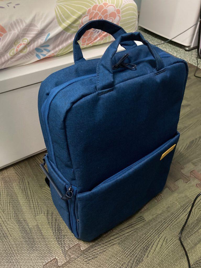 蓝色的Off Toco相机背包
