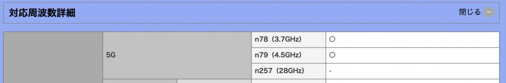 NX9所支持的5G频谱